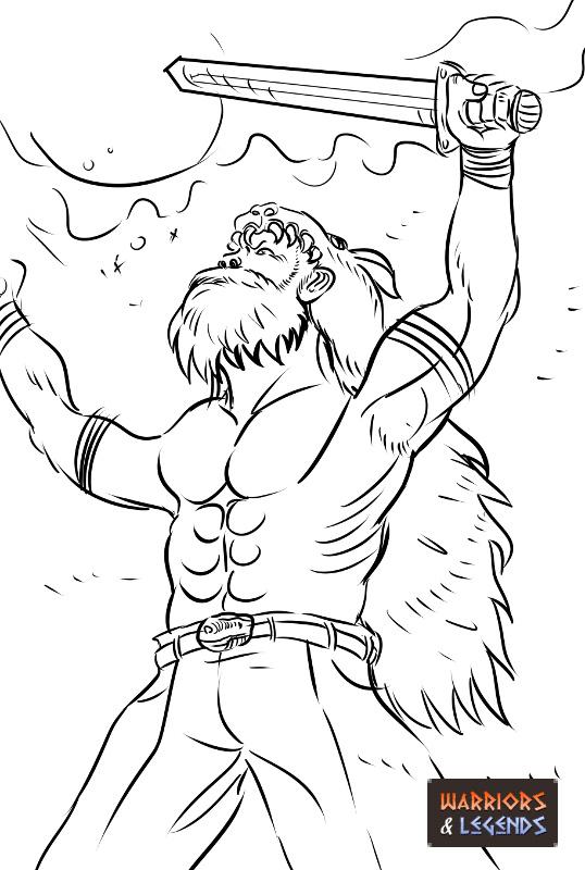 Viking Warrior Beserkers