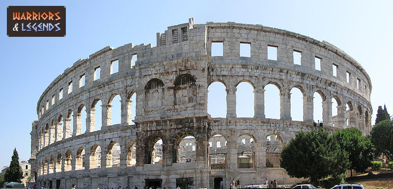 the gladiator amphitheatre pula arena