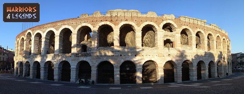 the gladiator amphitheatre verona arena